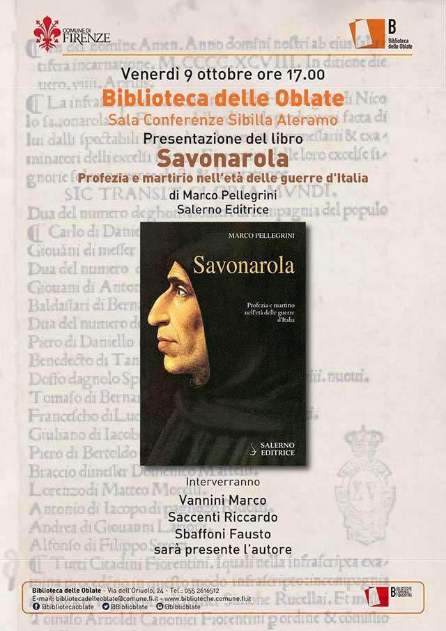 Copertina libro Savonarola