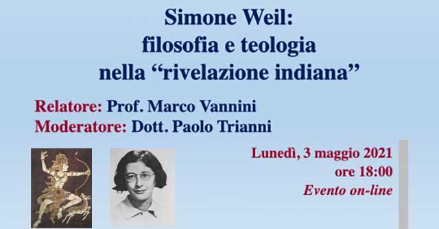 """Simone Weil: filosofia e teologia  nella """"rivelazione indiana"""""""