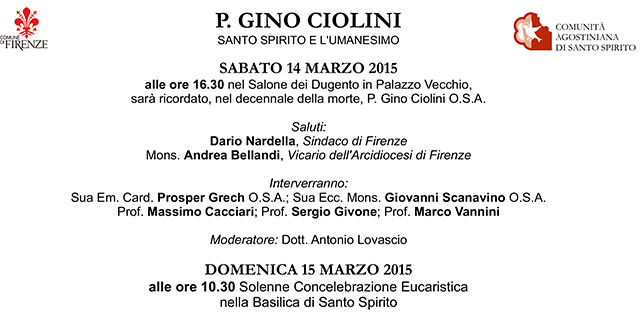 Commemorazione P. Gino Ciolini