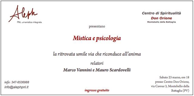 Invito a Mistica e psicologia